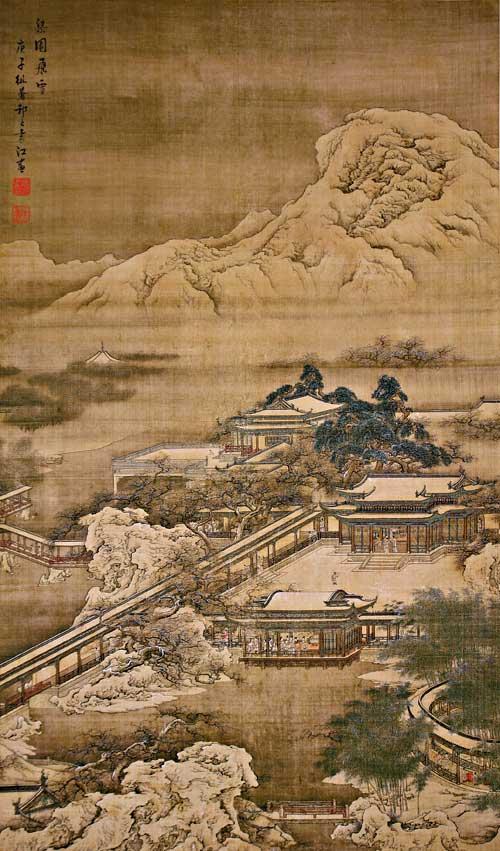 袁江 梁园飞雪图(清) 2010-02-10字型