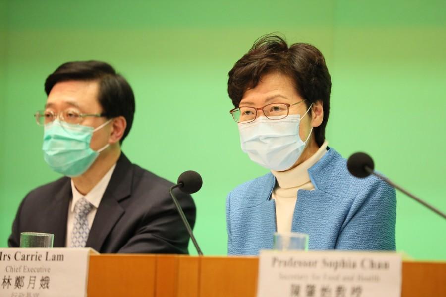 林鄭:行會通過規例禁止多過四人於公眾地方聚集